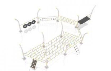 מתקן אקסטרים לטיפוס – חבלים ועיגולים