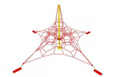 מתקן אקסטרים לגני שעשועים – פרמידת כבלים