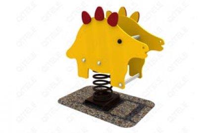 דמות קפיץ דינוזאור צהוב