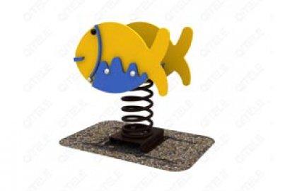 דמות קפיץ דופן כפולה דג במים